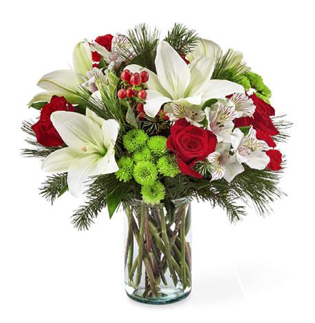 1-800-FLORALS coupon: FTD® Christmas Spirit Bouquet Dlx