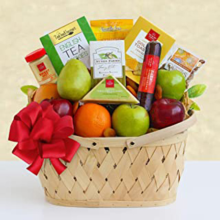 Bountiful Greetings Fruit Basket