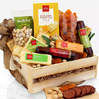Meat & Cheese Wooden Gift Crate - Good