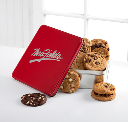 - Mrs. Fields Classic Tin with One Dozen Cookies