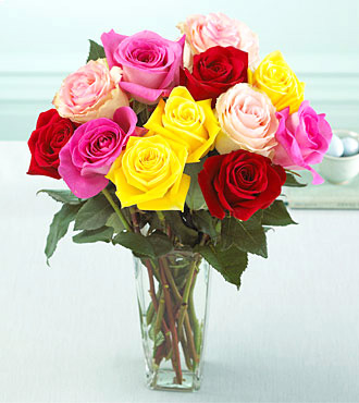 FTD Mixed Colors Roses Bouquet