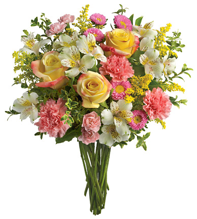 International flower delivery pink yellow and white bouquet international pink yellow and white bouquet mightylinksfo Gallery