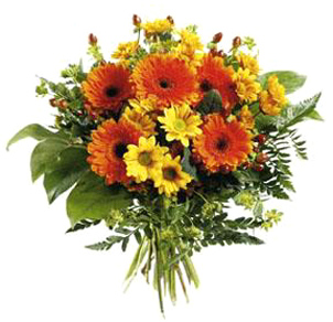 International flower delivery orange and yellow flowers bouquet international orange and yellow mixed bouquet mightylinksfo