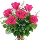 Fancy Half Dozen Pink Roses