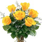 Fancy Half Dozen Yellow Roses