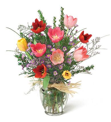 Tulips Vase Bouquet