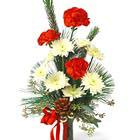 Christmas Bud Vase