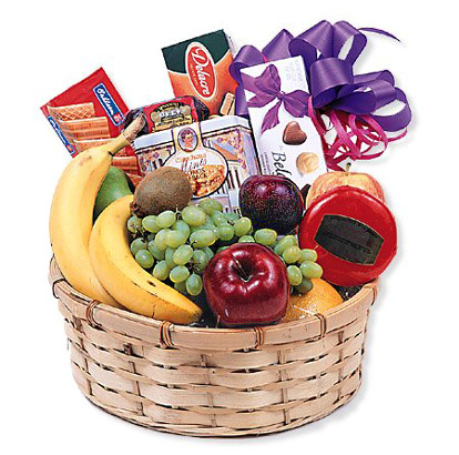 Fruit, Goodies and Gourmet Basket