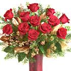 Christmas Dozen Roses Vase