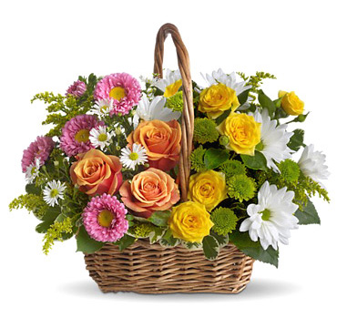 INOpets.com Anything for Pets Parents & Their Pets Sweet Tranquility Flowers Basket