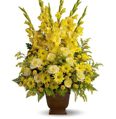 Teleflora Sunny Memories Floral Tribute