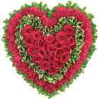 Majestic Heart Floral Tribute