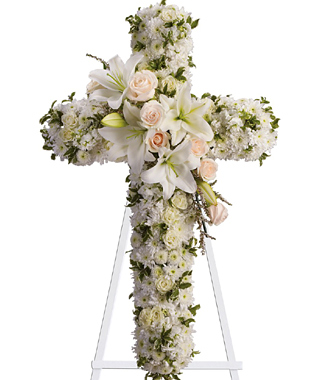 Divine Light Standing Floral Cross