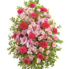 Pink Tribute Funeral Flowers Spray