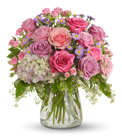 Your light shines flower arrangement in pink lavender and white your light shines arrangement mightylinksfo
