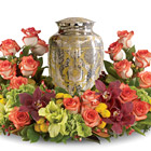 Sunset Wreath Urn Arrangement