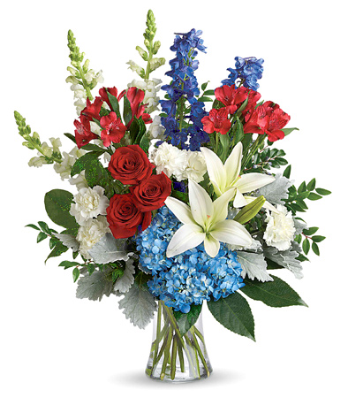 Patriotic Floral Tribute Bouquet