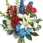 Patriotic Floral Tribute Bouquet