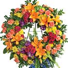 Colorful Serenity Sympathy Wreath