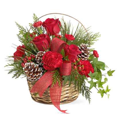 Holiday Riches Basket Bouquet