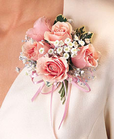 Pink Roses Corsage