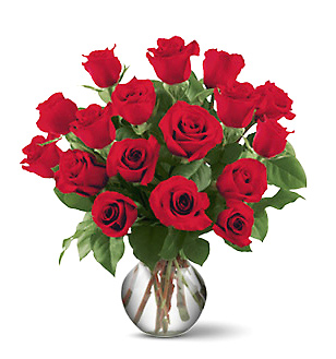 1-800-FLORALS coupon: 18 Roses Vased