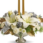 Teleflora® Silver and Gold Centerpiece