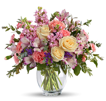 Pretty Pastel Flowers Bouquet Premium