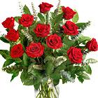 Deluxe Dozen Roses Vase