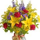 Sunny Side Flowers Vase