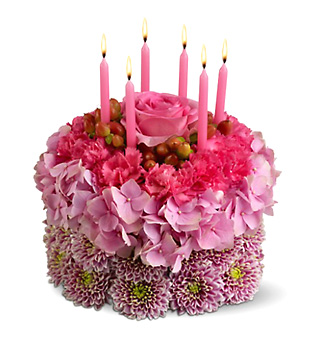 Birthday Flowers Cake by 1800FLORALS Flower Delivery