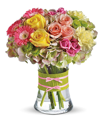 Fashionista Blooms Flowers Vase