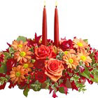 Autumn Lights Candle Centerpiece