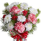 Holiday Wishes Vased Bouquet