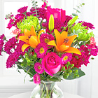 Horizon Hues Bouquet with Vase
