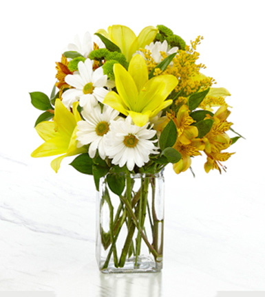 Come Rain or Shine Bouquet with Vase