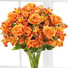 Orange Burst Bouquet with Vase