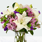 Lavender Fields Flower Bouquet with Vase