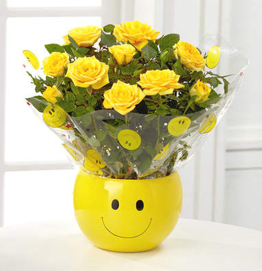 - FTD® Sending A Smile Mini Rose Plant