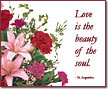 Love is the beauty...