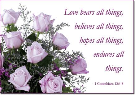 free 'love bears all' virtual purple rose ecard by florals, Beautiful flower
