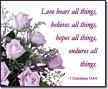 Love bears all things...