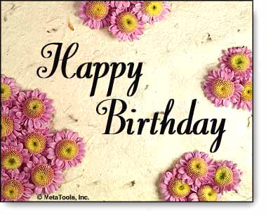happy birthday' free virtual flowers by florals free virtual gifts, Birthday card